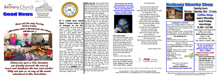 Bethany Good News Newsletter September 2014